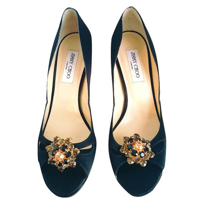 Jimmy Choo Embellished Black Heel Shoes