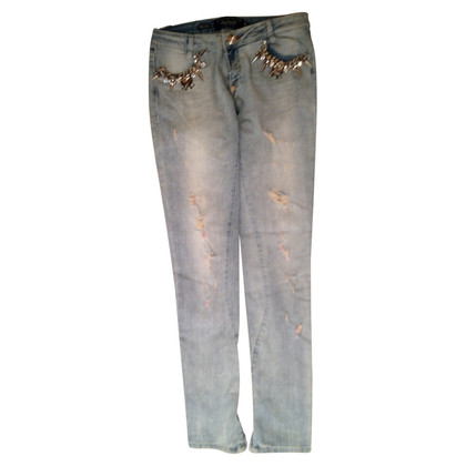 Philipp Plein Jeans with Swarovski crystals