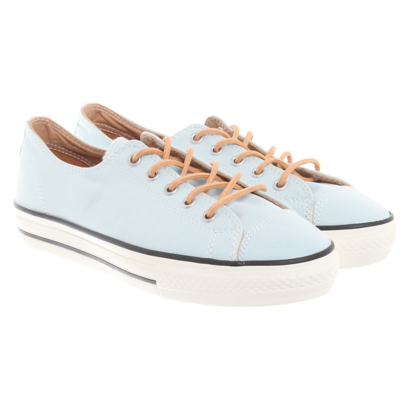 Other Designer Converse lace up shoes in blue Second Hand
