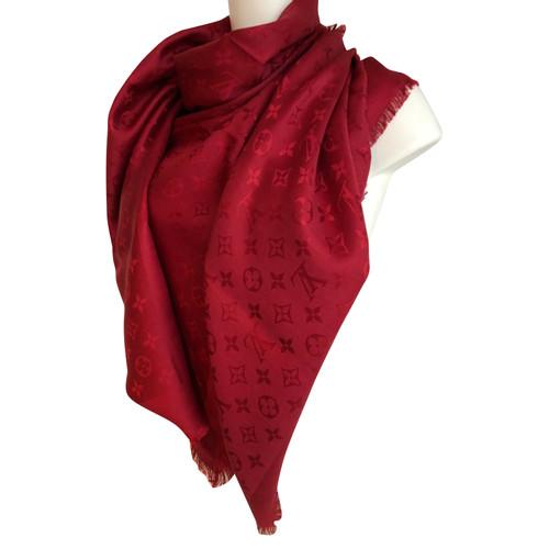 großartiges Aussehen klassische Schuhe rationelle Konstruktion Louis Vuitton Schal/Tuch aus Seide in Rot - Second Hand ...