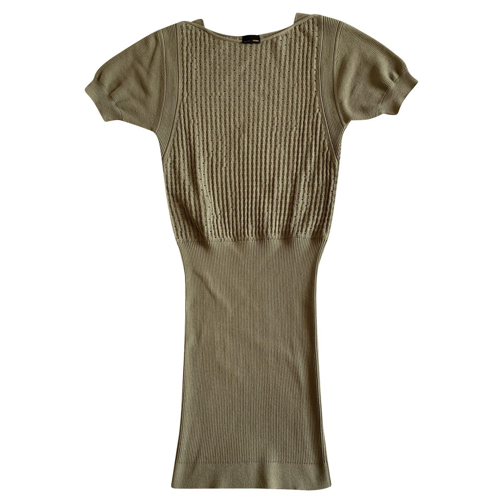 Fendi Kleid aus Baumwolle - Second Hand Fendi Kleid aus Baumwolle