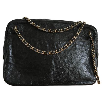 Chanel Camera Bag aus Straußenleder