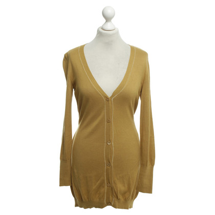Escada Cardigan in giallo senape