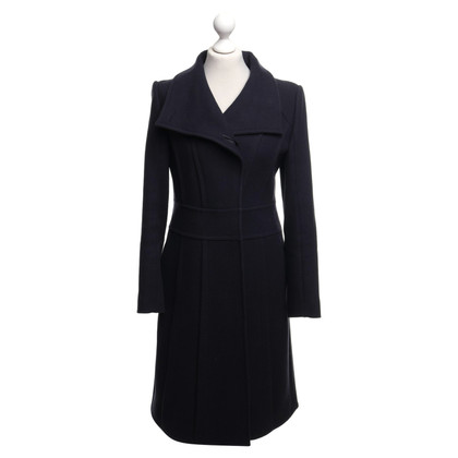Reiss Coat in blue / black
