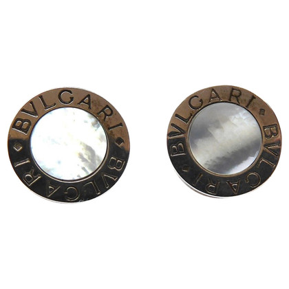 Bulgari Studs in White Gold