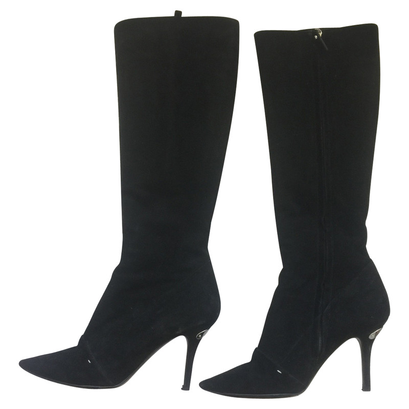 Louis Vuitton Boots Suede in Black