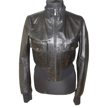 Belstaff Bomber leather jacket in black