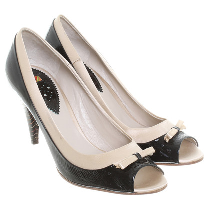 Paul Smith pumps in zwart / beige