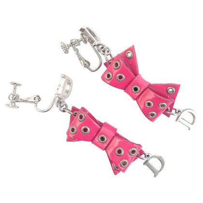 Christian Dior Roze clip oorbellen