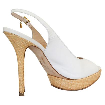 Christian Dior Leder-Sandale