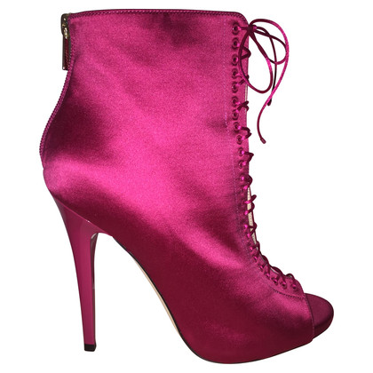 Jimmy Choo Pink Cancan ankle boots