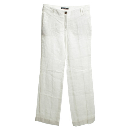 Marc Cain Linen pants in white
