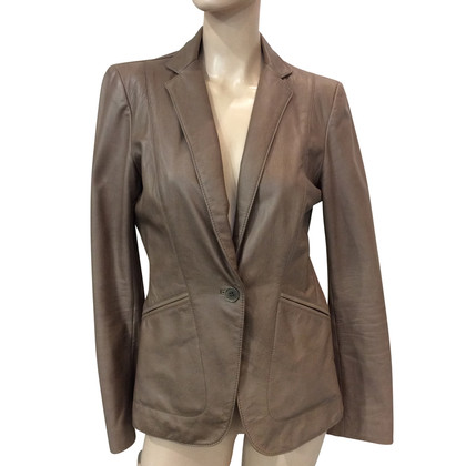 DKNY Leather Blazer
