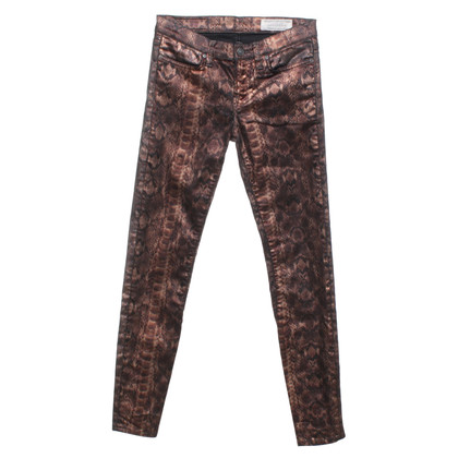 All Saints Skinny jeans with animal print