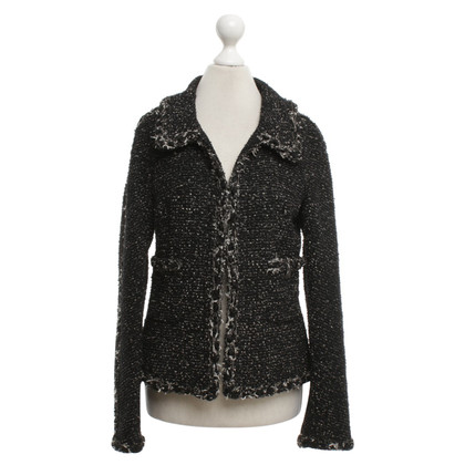 Chanel Bouclé blazer in black / beige