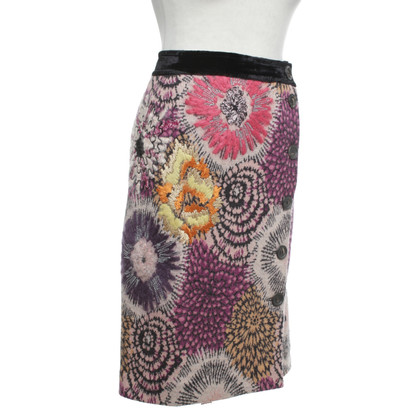 Missoni Jupe en tricot multicolore