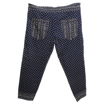 Isabel Marant Etoile Cotton trousers in bicolor