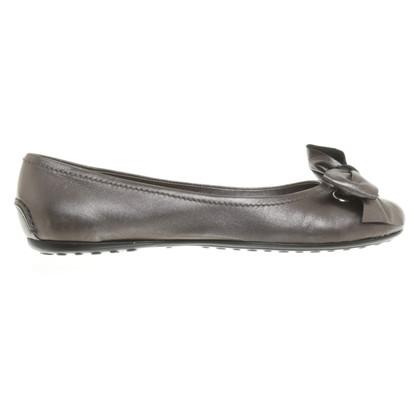 Car Shoe Ballerinas in Gray
