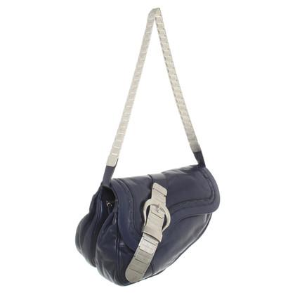 """Christian Dior """"Gaucho Saddle Bag"""" in blue"""