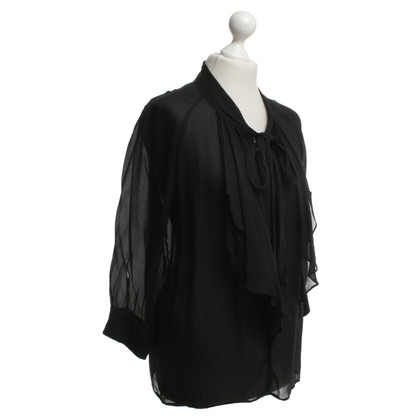 Max Mara Sled blouse in black