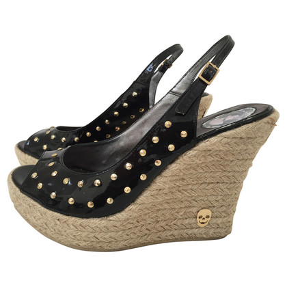 Philipp Plein Lackwedges in nero
