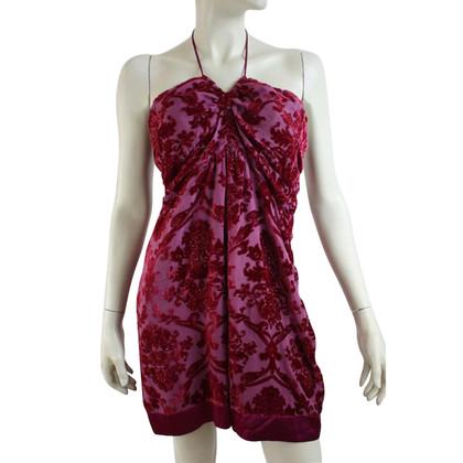 Hale Bob capestro vestito di seta in rosa e viola