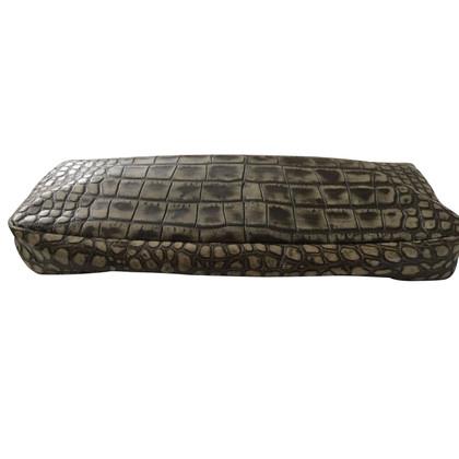 Givenchy Croco clutch en cuir