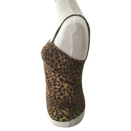 Blumarine Top con modello leopardo