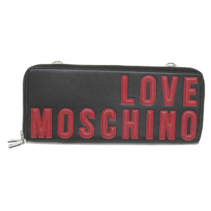 Moschino Love clutch in black
