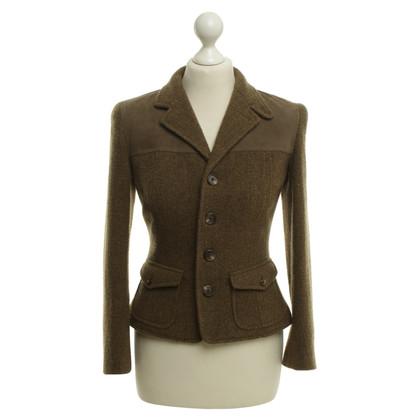 Ralph Lauren veste couleur olive avec daim cerf