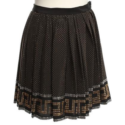 Versace for H&M Silk skirt with rhinestone patterns