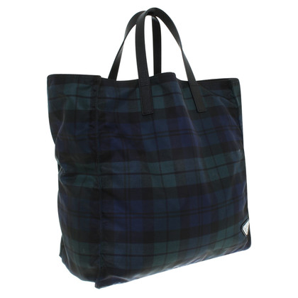 Prada Shopper with tartan pattern