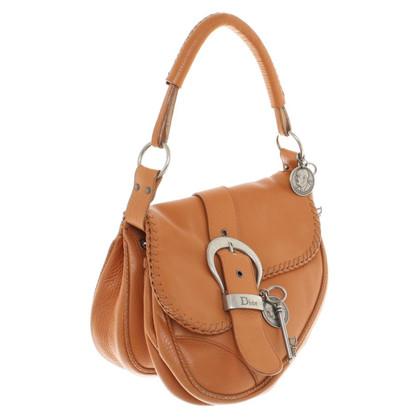 """Christian Dior """"Gaucho Saddle Bag"""" with handle"""