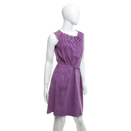 Strenesse Leather dress in purple