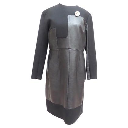 Céline Kleid mit Materialmix