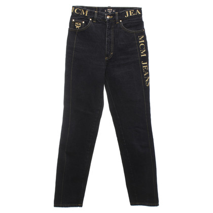 MCM Jeans with logo embroidery