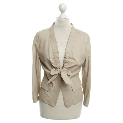 Hugo Boss Leather jacket in beige