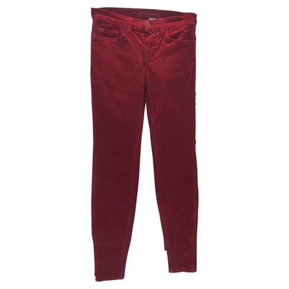 J Brand Corduroy broek in rood