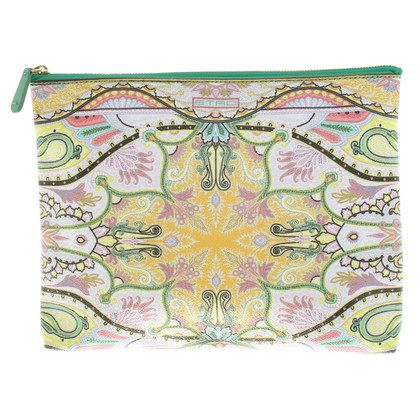 Etro clutch con stampa floreale