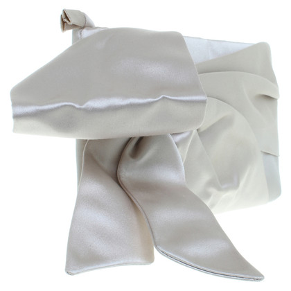 Valentino Satin clutch in cream