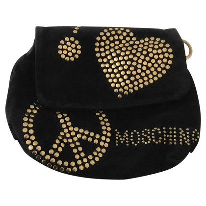 Moschino Suede clutch