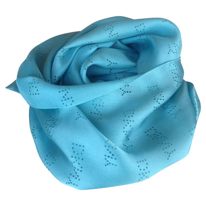 DKNY Blauwe zijden sjaal