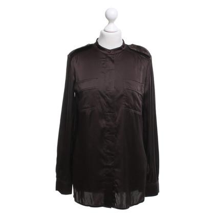 Luisa Cerano Silk blouse in dark brown