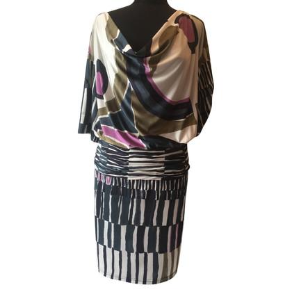 Barbara Schwarzer Kleid mit Muster