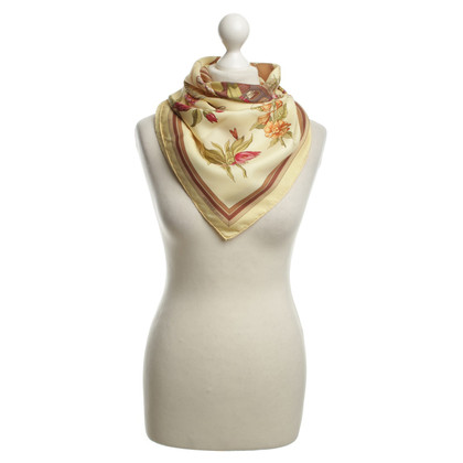 Hermès Seidentuch in Pastellgelb