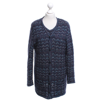 Missoni twin set di gilet e Top in blu