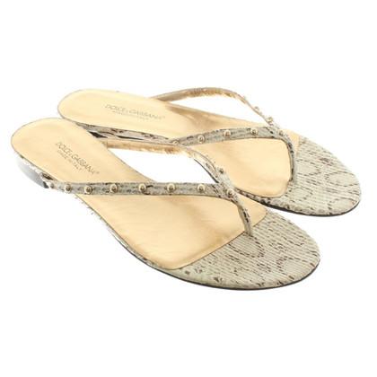 Dolce & Gabbana Sandalen aus Schlangenleder