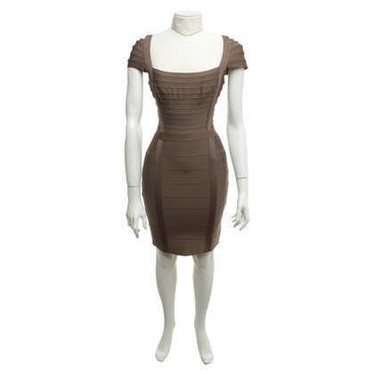 Hervé Léger Khaki colored dress