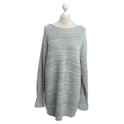 Acne Pullover aus Hellblau/Weiß
