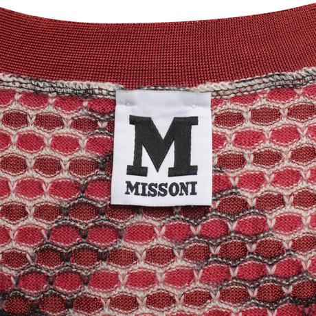 Strickjacke hexagonalem mit Missoni Missoni hexagonalem mit Muster Muster Muster Bunt Strickjacke qBFxT